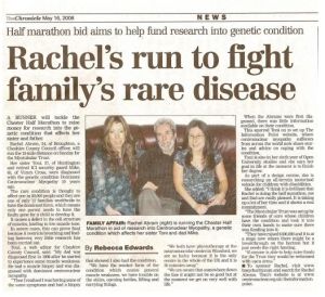 Rachel's run to fight family's rare disease