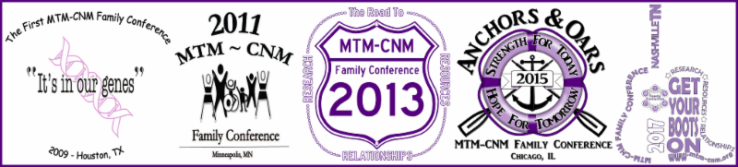 MTM-CNM Family Conference logos.